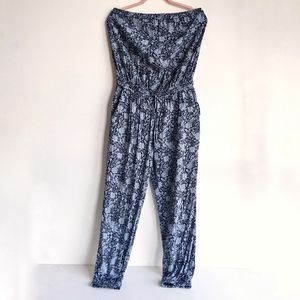 Talula Jumpsuit in Blue Paisley print
